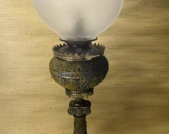 Ornate Antique Bradley & Hubbard Parlor Banquet Lamp circa 1880's