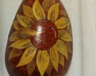 SOLD. ..Thunder gourd sunflower style
