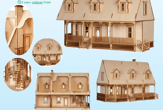 alisha land puppenhaus miniatur haus bausatz in 01 24 die. Black Bedroom Furniture Sets. Home Design Ideas