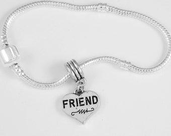 Friend Bracelet Best friends bracelet  My Friend BFF Friendship sisters European Style Best Jewelry Gift