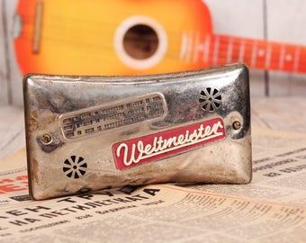 Harmonica Weltmeister - Antique harmonica - Double sided harmonica - Germany harmonica 40's - Mouth organ harmonica - Pocket harmonica