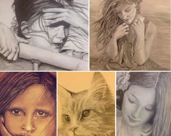 Custom Portraits!  Coupon code: 50PERCENTOFF will give a first time buyer 50% off!