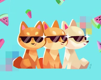 Summer Shibes - Art Print
