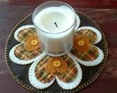 Prim Heart Candle Mat
