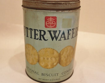 Nabisco Butter Wafer National Biscuit Co Tin Vintage Advertising