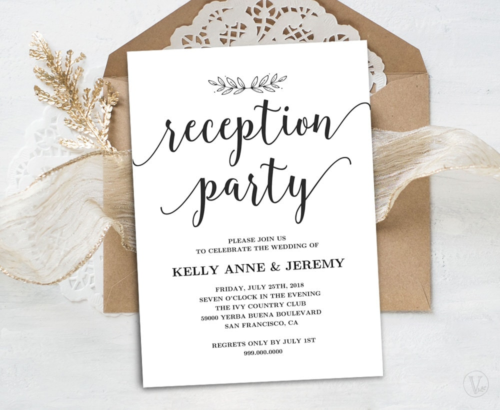 zoom - Wedding Reception Invites
