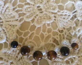 Tiger Eye floating necklace