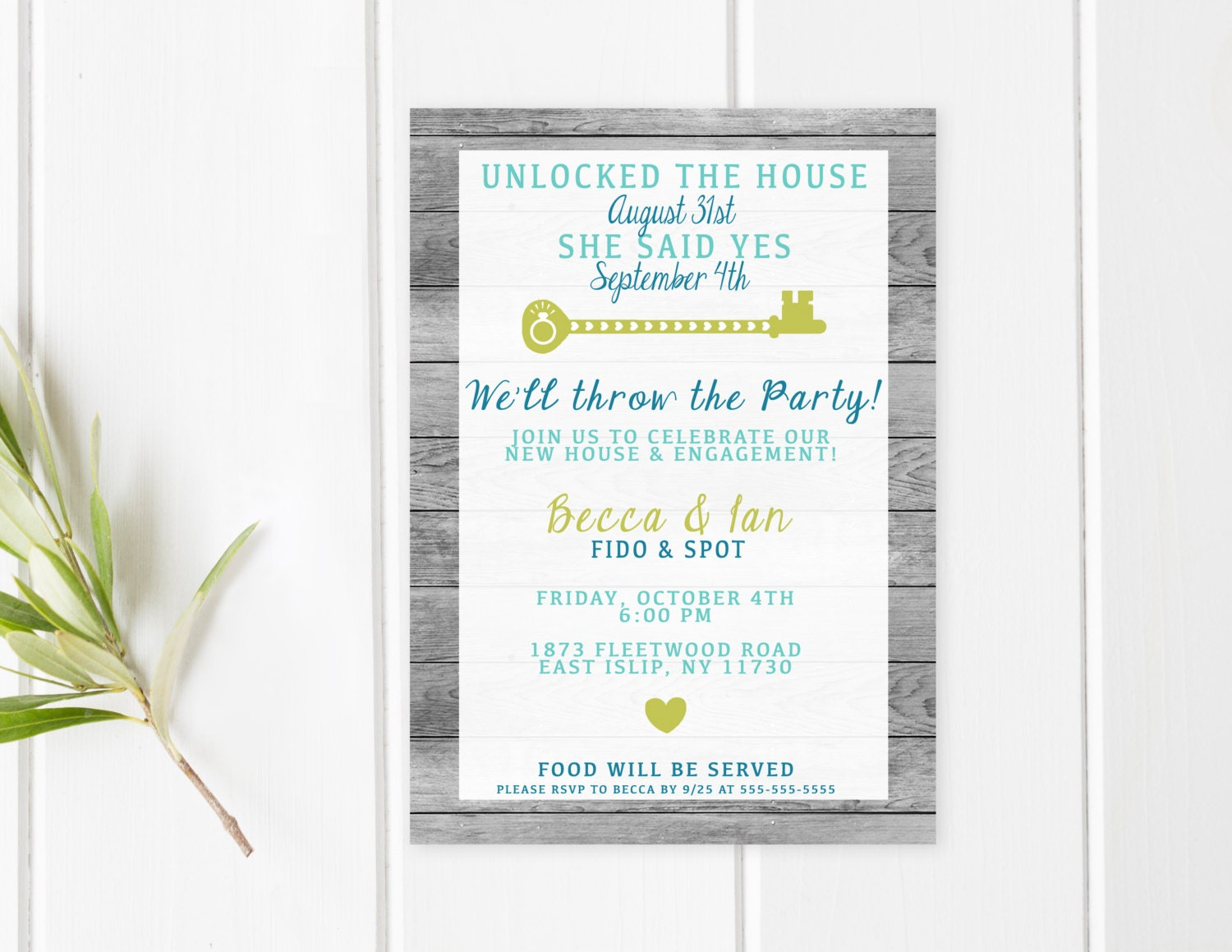 engagement party invitation housewarming party invitation. Black Bedroom Furniture Sets. Home Design Ideas