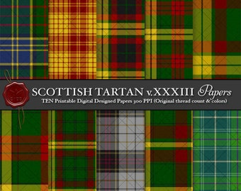 Digital Printable Scottish Tartan Plaid: Highland Clan MacMillan, Dress, Hunting, Society of Glasgow, Clans Originaux, Cancer Support
