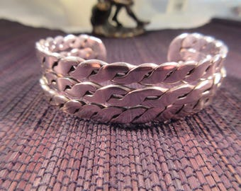 Cool Retro Sterling Silver Cuff Bracelet