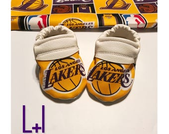 Lakers Handmade Baby Moccasins (child moccasins, Baby Shoes, baby slippers, baby booties, affordable