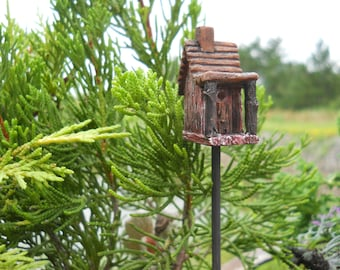 Fairy Garden  - Mini Birdhouse - Miniature