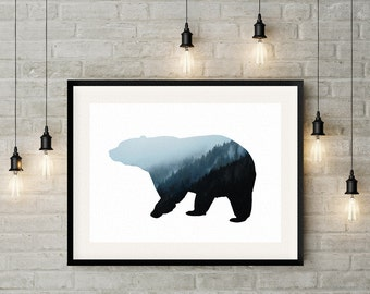 The Bear Hills. Wall Art Prints. Living room decor/Gifts/Luxury Art/Office art. Luxury art/Affordable art/ Large art