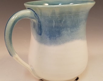 Blue and white porcelain mug