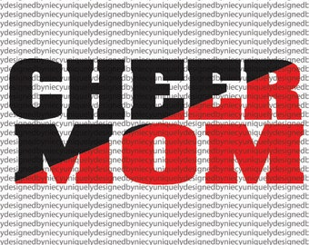 Cheer Mom svg  FILE...Instant Download Cricut Design Space, Silhouette, Cutting File, Cheerleader File