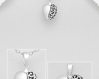 """Sterling silver pendant """"I LOVE YOU"""""""