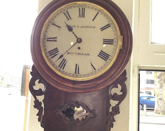 Antique Drop Dial Fussee Wall clock