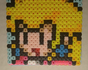 Super Mario Brothers Perler Bead Notepad - Princess Peach