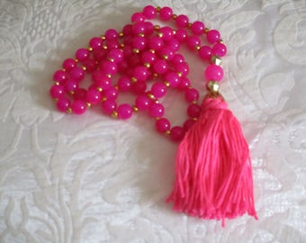 Chic bohemian necklace pink