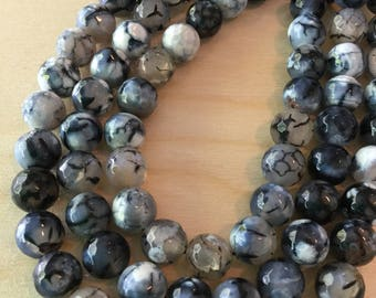 Black Fire Agate Beads 10mm