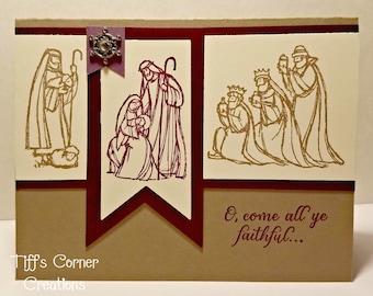 Nativity O, Come All Ye Faithful Christmas Card