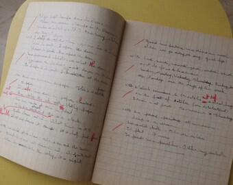 French School Exercise Book - Used