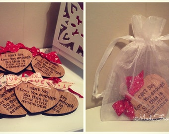 Wooden Valentines Heart Keepsake