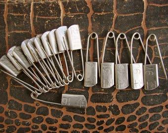 16 vintage nursery pins