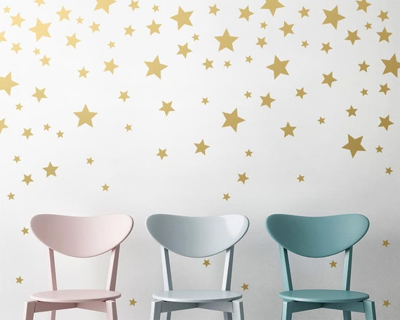 Gold Star Wall Decor: Star Wall Decals Gold Star Decals Nursery Wall Decals Star