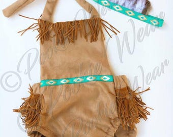 Pocahontas outfit Pocahontas costume indian outfit indian costume indian romper baby Pocahontas costume toddler halloween costume