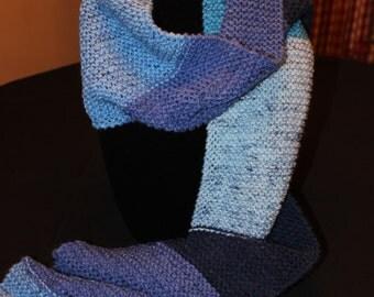 Hand Knit Scarf -Scarf - Knit Scarf - Winter Scarf - Knitted Scarf - Knitted Scarf - Accent Scarf