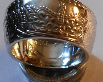 Custom Handmade New Zealand Silver Dollar Ring  size 10-22