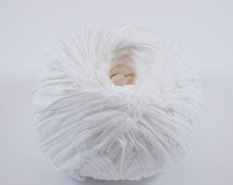 Ganxxet Washi Yarn - White; FREE SHIPPING