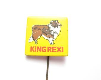 Vintage Scottish Collie stick pin, dog pins