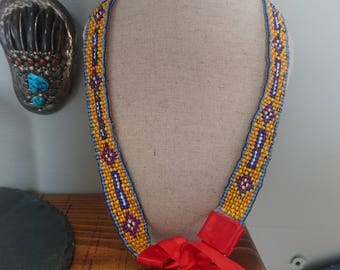 Native American style beaded Necklace