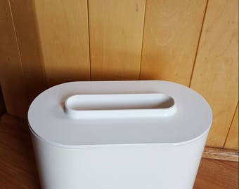 Awesome RARE Vintage Mid Century plastic Kartell ice bucket off white! MUST SEE!
