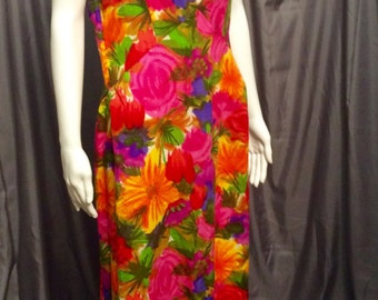 Maxi Floral Dress Kiyomi Of Hawaii. Resort Wear