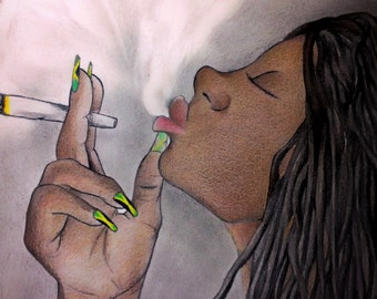 Jamaican Rasta Woman #Artwork