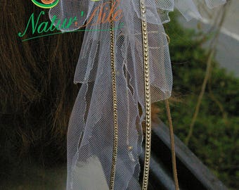 Natte Maïta Jewels of original hair and detachable Mariage