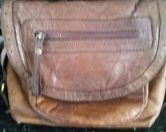 Vintage Leather Colorado shoulder crossbody saddle bag