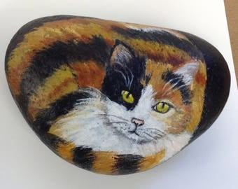 Calico painting on rock