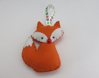 Handmade Felt Fox Decoration