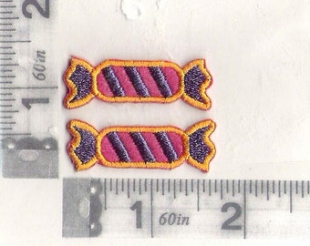 Pink & Purple hard candy iron on patch.