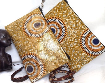 African Fabric Zipper Purse