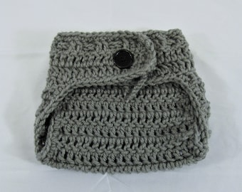 Diaper Cover in any color- Adjustable Waist with button Newborn to 3 months, 3-6 months, 6-12 months, 12- 24 months-Crochet  FREE SHIPPING
