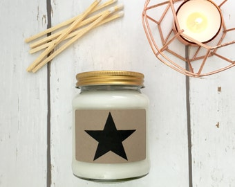 Star Print Scented Natural Soy Candle