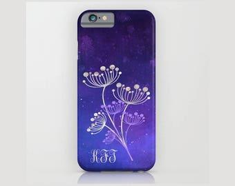 Custom Device case for iPhone / Samsung Galaxy, iPhone 7 /7s, iPhone 6 /6s, Samsung, Galaxy, Phone, Christmas, Blue, Custom, Monogram, Gift