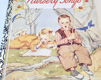 Nursery Songs, Kids book, a Little Golden Book