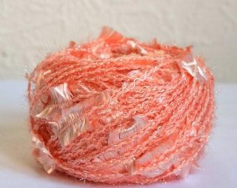 Shiny peach yarns, 100g / 3,5 oz balls