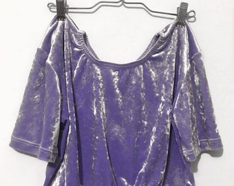 Lavender Velvet Crop Top